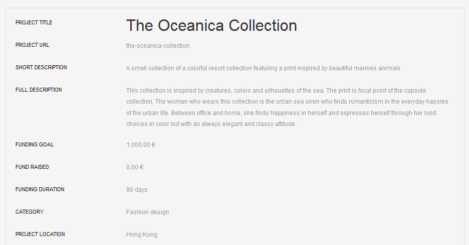 The Oceanica Collection (profile)